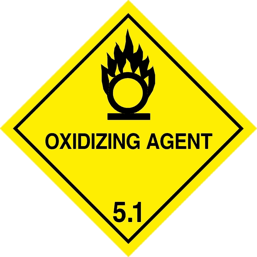 Class 5.1 oxidizing agent label