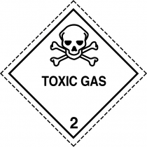 Class 2.3 toxic gas label