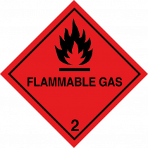 Flammable Gas class 2.1 vehicle label
