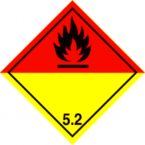 Vehicle Label Class 5.2 Organic Peroxide