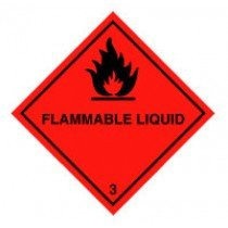 Class 3 flammable liquid sticker label kemler
