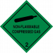 Class 2.2 non flammable compressed gas label