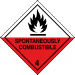 Class 4.2 spontaneous combustion label